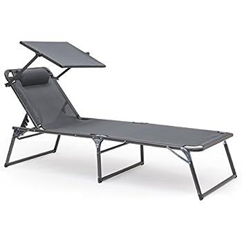 klappbare sonnenliege mit dach aus aluminium. Black Bedroom Furniture Sets. Home Design Ideas