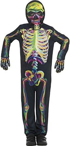 Imagen de niños niña brilla en la oscuridad huesos de esqueleto halloween horror miedo disfraz 4 14 años  12 14 years