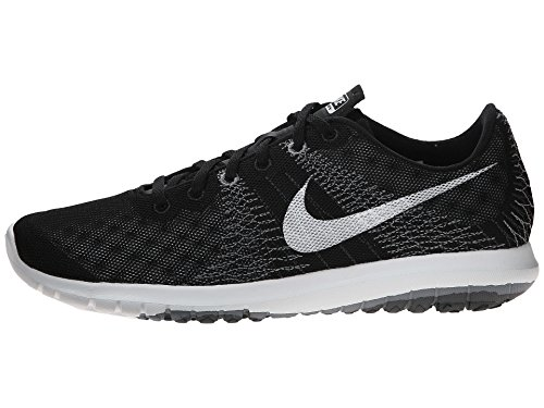 Nike Flex Fury, Chaussures de Running Entrainement Homme Multicolore - Negro / Blanco / Gris (Black / White-Wolf Grey-Cl Grey)