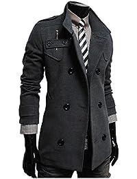 10b8122a8c9c Herren Seemannsjacke Zweireiher Mantel Wolle Mischung PEA Coat Kurz Tweed  Jacke Dufflecoat…