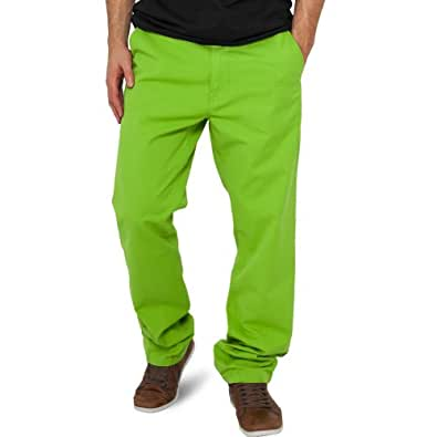 Urban Classics - CHINO Pantalon vert lime - W33