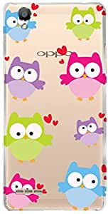 URBAN KOLOURS Original Designer Printed Clear Case Back Cover for Oppo F1 (Owls-Clear)