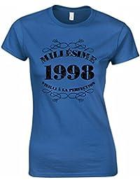 T-Shirt Anniversaire 18 Ans Femme Millésime 1998