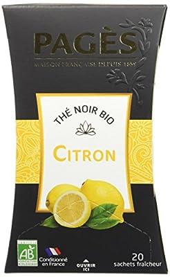Pagès Thé Noir Citron Bio 20 sachets - Lot de 2