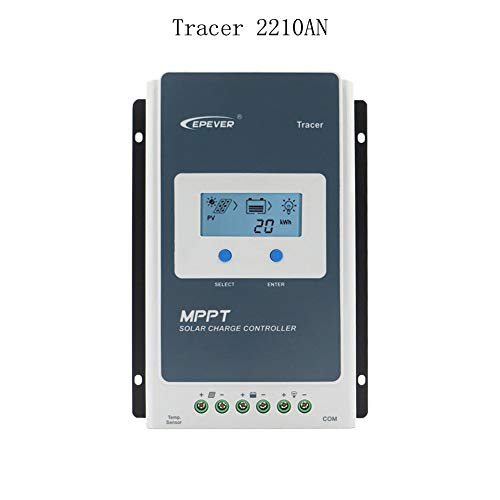 EPEVER MPPT Solar Laderegler 20A Tracer2210A Solar Panel Regler mit LCD Display Max PV 100V Eingangsleistung 260W / 520W (20A, Tracer2210A)