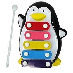 zolimx Penguin Nota 5 xilófono, sabiduría del desarrollo juguetes musicales (negro)