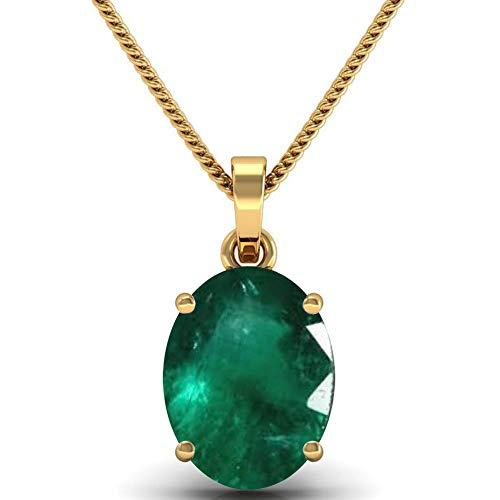 PRAJAPATI GEMS 6.25 Ratti Certified Natural Emerald Panna Pendant/Locket (Panna Stone Panchadhatu Pendant) 100% Original AA++ Quality Gemstone