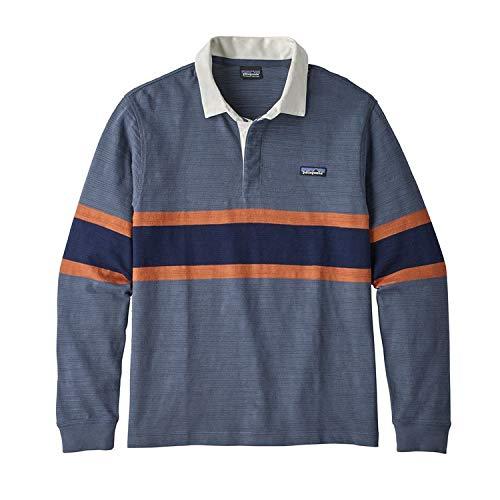 Patagonia M 'S L/S LW Rugby Polo, Herren S rugby big dolomite blue (blau) - Patagonia Herren Polo-shirt