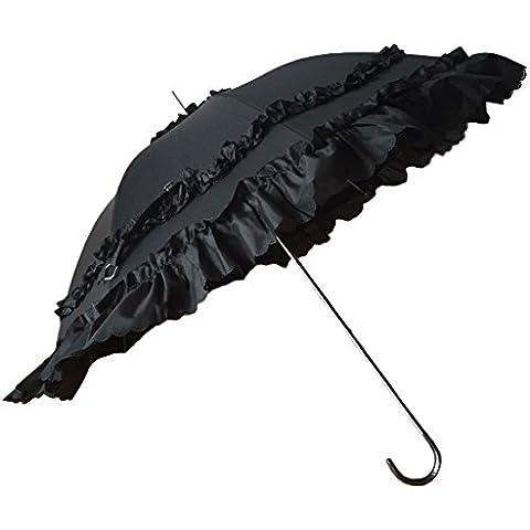 Justdolife Boda Paraguas UV Novia Paraguas de Protección con La Manija Del Gancho