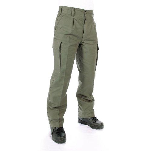 LEO KÖHLER ORIGINALE Bundeswehr Pantaloni CAMPO Olive