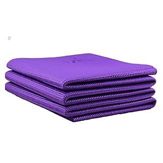 Plegable antideslizante colchoneta de ejercicios de Yoga de viaje, plegable, portátil, libre de ftalatos y látex (60x 174cm).