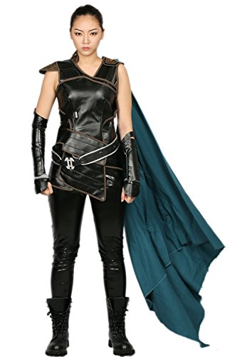Halloween Valkyrie Cosplay Kostüm Deluxe Damen Kleidung PU Leder Outfit für Erwachsene Verrücktes Kleid Merchandise (Valkyrie Kostüm)