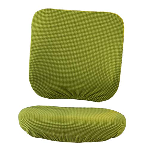 B Blesiya Abnehmbare Bezüge Set für Bürostuhl - Stretchhusse für Büro Drehstuhl Chefstuhl - Gelbgrün