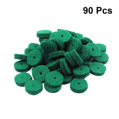 SUPVOX D04 22 mm Klavier Filz Balance Rail Punchings Tastatur Gleichgewichtsringe Reparaturteile 90 Stück (grün) -