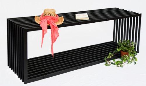 DanDiBo Bank D-Stil 150 cm Modern Gartenbank 10103 Sitzbank aus Metall Eisen Blumenbank