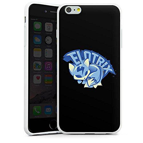 Apple iPhone X Silikon Hülle Case Schutzhülle Elotrix Fanartikel Merchandise Youtuber Silikon Case weiß