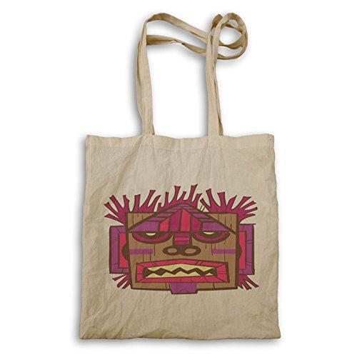 Stammes- Maske Aloha Kunst Tragetasche p878r