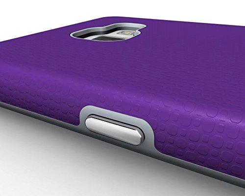 YHUISEN Galaxy A5 2016 Case, 2 In 1 TPU und PC Ultra Slim Anti-Rutsch Anti-Shock Rüstung Kratzer Resistant Schutzhülle für Samsung Galaxy A5 2016 A510 ( Color : Black ) Purple