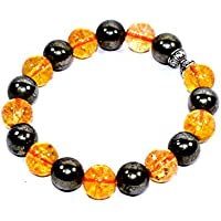 Bracelet Citrine With Golden Pyrite 10 MM Birthstone Handmade Healing Power Crystal Beads preisvergleich bei billige-tabletten.eu