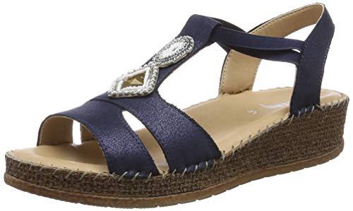 Jenny Marrakesch 2217732, Sandalias con Tira Vertical para Mujer, Blau 02, 41 EU