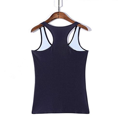 JTC Femme Débardeur Imprimé Veste T-shirt Tops de Sport Sans Manche Gilet D'été Coloré Taille Unique sorcière