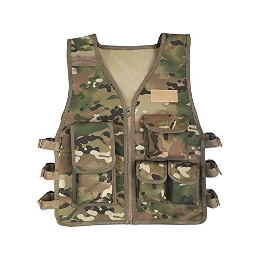 Mann Armee Kostüm Kid - RZRCJ Militärische Kinder Tarnung Jagd Kleidung Männer Kampfausrüstung Taktische Armee Weste Kinder Cosplay Kostüm Airsoft Sniper Uniform (Color : CP Camouflage, Size : Kid 8T 14T)