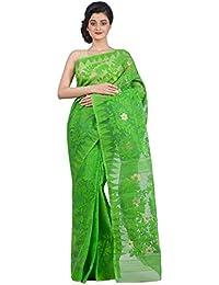 Tjsarees Handloom Silk Saree (Tj500056_Green_Free Size)