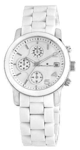 Herzog & Söhne Damen-Armbanduhr Chronograph Quarz Edelstahl HS402-186