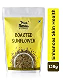 True Elements Roasted Sunflower Seeds 125gm - Good for Skin & Hair