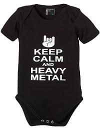 Touchlines Baby Body Keep Calm and Heavy Metal - Mono de danza