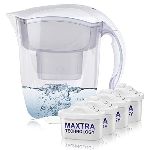 BRITA Elemaris XL 3,5L Wasserfilter weiß inkl. 4x Maxtra Kartusche