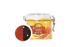 Avataa Orange Black Tea: High Grown Ceylon Tea with Dehydrated Orange Peel & 100% Narural Orange Oil (50 Gram/25 Cups)