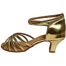 c4aff682afa VASHCAME-Chaussures a Talons Hauts de Danse Latine Sandales pour Femme