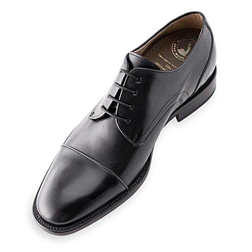 Masaltos Hauteur Des Chaussures Pour Hommes Jusqu'à 7cm. Fabriqué En Cuir Birmingham Black Modèle