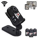 Sansnail Mini DV Q7 -Cámara WIFI DVR, modo de visión nocturna, detección de movimiento, micrófono incorporado