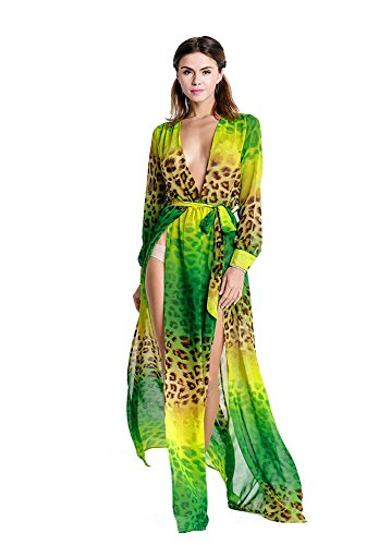 Missord - Robe - Décontracté - Manches Longues - Femme green