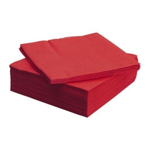 IKEA FANTASTISK 50 Stück Papierserviette 3 lagig rot Servietten 40x40 cm