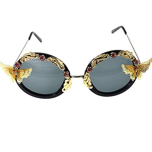 Yiph-Sunglass Sonnenbrillen Mode Handgemachte Kristall- und Schmetterlingsbarock-Blumen-Sonnenbrille für Frauen, die reisenden Sommer-Strand Fahren
