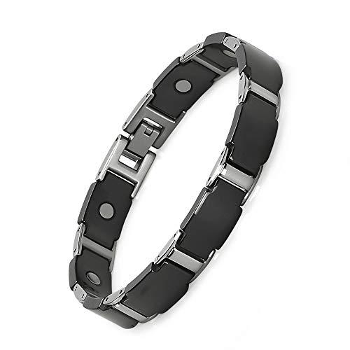 Jeroot Magnetarmband,Germanium Herren Magnetische Armbänder für Arthritis Verschluss Armband Magnet Herren Gesundheit Magnetarmband Energetix (3000 gauss)