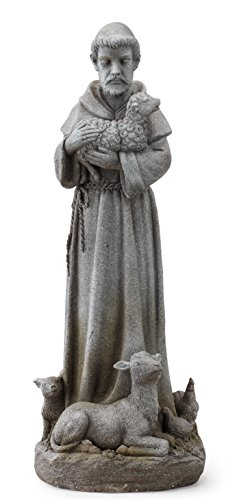 Napco 11152 Statue St. Francis mit Tieren, 71 cm