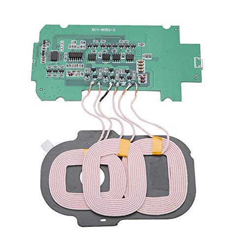 ASHATA Qi Drahtlose Leiterplatte Spule DIY 3 Spulen Sender Modul Drahtlose Lademodul 5 V 2A für Phone (Wireless-ladegerät Sender)