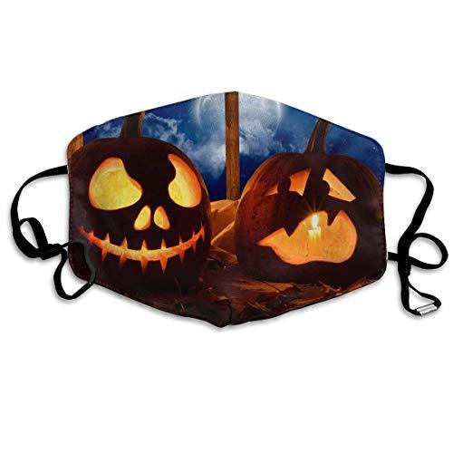ske,Wiederverwendbar Anti Staub Schutzhülle,Gesichtsmaske Jack-o-Lanterns Anti Pollution Washable Reusable Mouth Masks for Man Woman ()