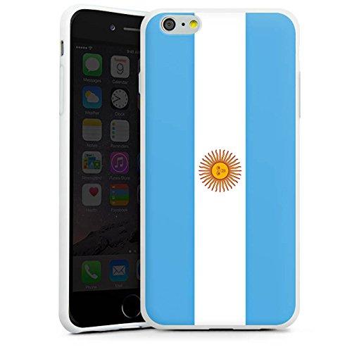 Apple iPhone X Silikon Hülle Case Schutzhülle Argentinien Flagge Argentina Silikon Case weiß