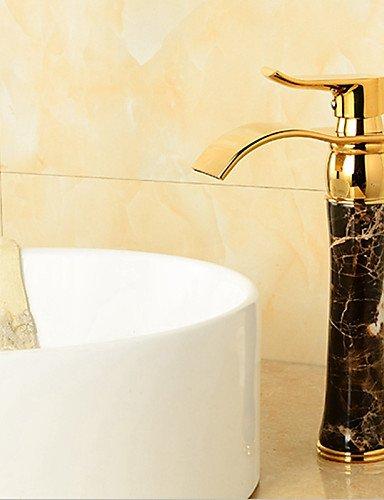 Preisvergleich Produktbild DALIU-deckenmontiert Einhand Ein Loch in Ti-PVD Waschbecken Wasserhahn