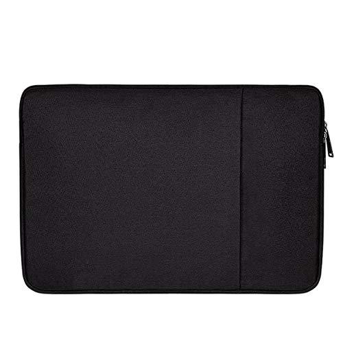 Semoic wasserdichte Laptop Tasche Hülle Notebook Tasche Für Weiche Rei?Verschluss Hülle Tasche Hülle (Schwarz + 15,6 Zoll)