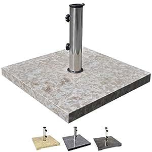 nexos sonnenschirmst nder marmor poliert grau eckig 50 x 50cm 25kg edelstahl h lse. Black Bedroom Furniture Sets. Home Design Ideas