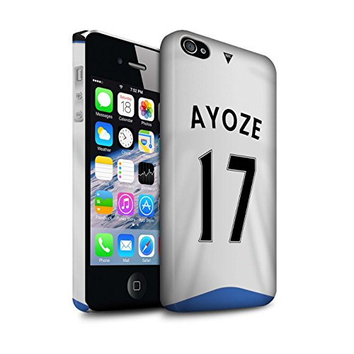 Offiziell Newcastle United FC Hülle / Matte Snap-On Case für Apple iPhone 4/4S / Tioté Muster / NUFC Trikot Home 15/16 Kollektion Ayoze