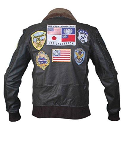 F&H Men's Top Gun Bomber Jacket Black