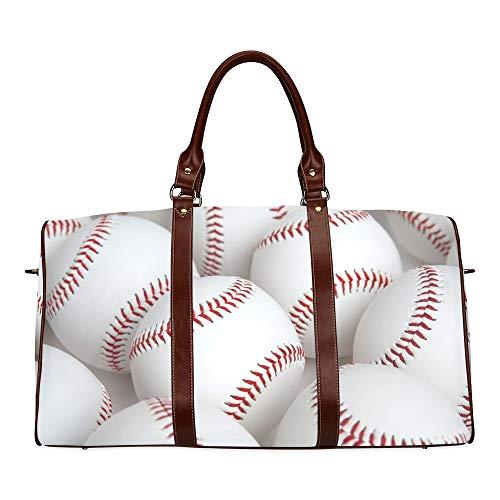 Travel Duffel Bag Baseball Typography Emblems, Sports Logos, Waterproof Weekender Bag Overnight Carryon Hand Bag Women Ladies Tote Bag with Microfiber Leather Luggage Bag Mlb Baseball-handy