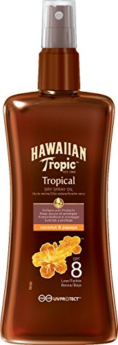 Hawaiian Tropic Protective Dry Spray Oil Sonnenöl LSF 8, 200 ml, 1 St